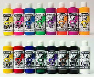 Jacquard Airbrush Paints (48 Colors Available) You Choose - One Bottle