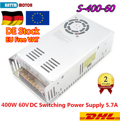 『DE』60V 400W DC Switching Power Supply 6.6A For 12N.m Servo Motor/LED/CNC Router