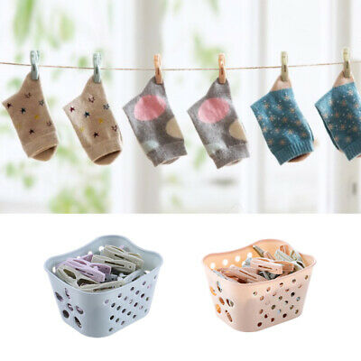 30pcs Clip Socks Windproof Clothes Clamp Holder Drying Hanger Clothespin + CNU