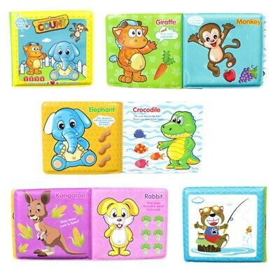 Baby Shower Bath Book English Cartoon Animal Book Early Education Books Toy New