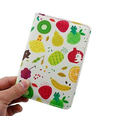 Fruits PU Leather Travel Passport Holder Trip Visa Ticket ID Card Protect Cover