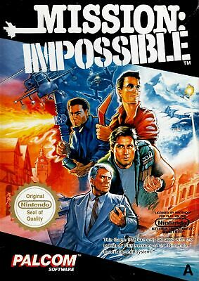 Mission Impossible - Nintendo Entertainment System NES Game Cart Only