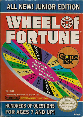 Wheel of Fortune: Junior Edition - Nintendo Entertainment System NES Game Only