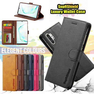 Samsung Galaxy Note 10 Plus 5G A20 A30 A50 A70 Wallet Leather Case Flip Cover