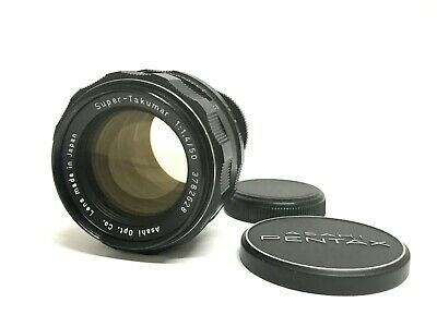 【EXC++++】 ASAHI Pentax SMC Super Takumar 50mm F1.4 M42 MF Lens w/ cap from JAPAN