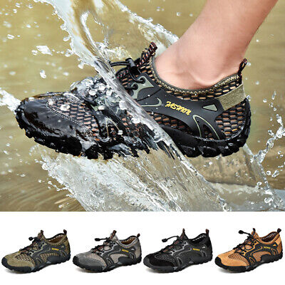 Men's Hiking Water Shoes Summer Breathable Sandals Outdoor Slip On Mesh Shoes