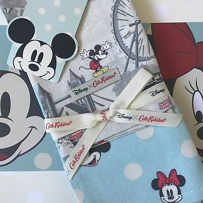 Genuine CATH KIDSTON x DISNEY Mickey Mouse in London Tea Towels Cloths NEW