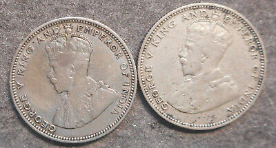 Straits Settlements  1926 1927  KGV 20  Cent Silver Coin  Nice  Good detail