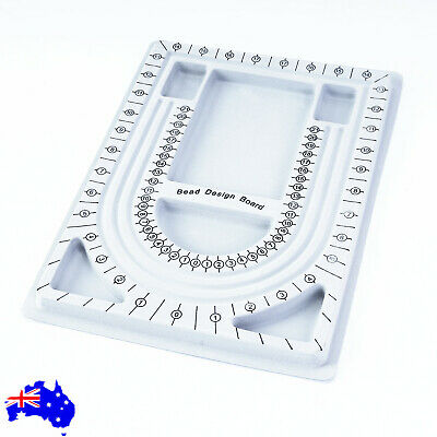 Craft String Bead Beading Board DIY Design Flocked Craft Necklace Jewelry Tray
