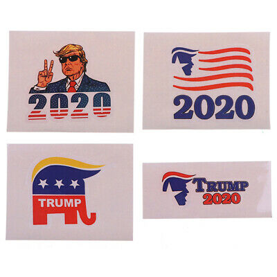 4pcs President DONALD TRUMP Head 2020 Decal Car Window Laptop Bumper Stic HT