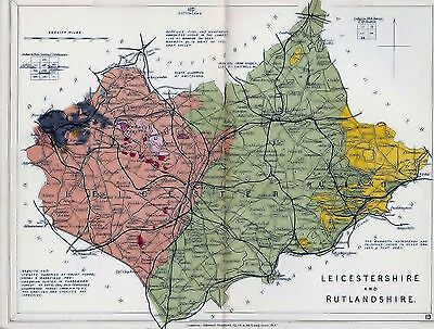 1904 Geological Map Stanford Leicestershire And Rutlandshire