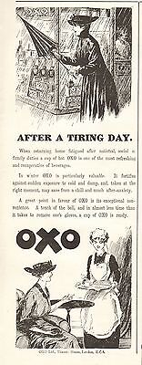 1917 Antique Print- Advert-Oxo-After A Tiring Day
