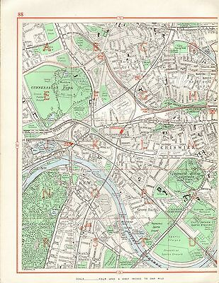 1964  Vintage Street Map - Chiswick, South Acton, Grove Park, Kew