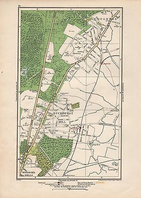 1923 London Street Map - Loughton, Buckhurst Hill,Woodford Wells