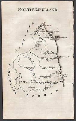 1790 Antique County  Map - Aikin - Northumberland, Holy Island, Bellingham,Hexha