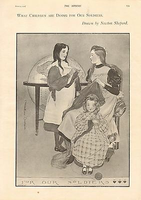 1900 Antique Print - Boer War- What Children Are Doing For Our Soldiers