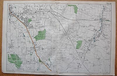 1912 Ca LARGE SCALE BACON STREET MAP- LONDON - BROMLEY HAYES BICKLEY ORPINGTON