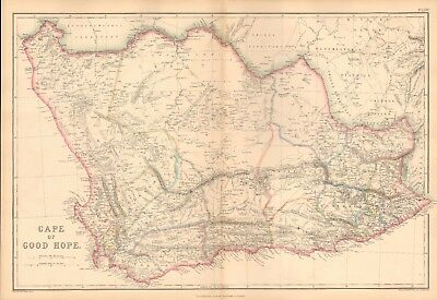 1859  Large Antique Map - Weller - Cape Of Good Hope
