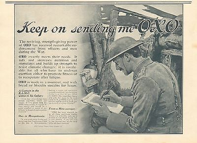 1917 Antique Print- Advert-Oxo-Keep On Sending Me Oxo