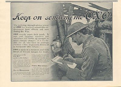 1917 Antique Print- Advert-Oxo-Keep On Sending Me Oxo 2