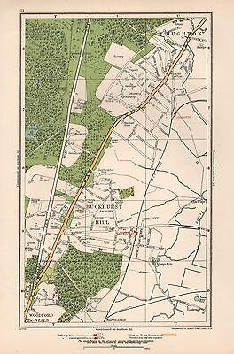 1933 London Map-Loughton,Buckhurst Hill,Epping Forest,Woodford Wells
