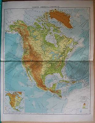1919 Large Map- North America, Physical