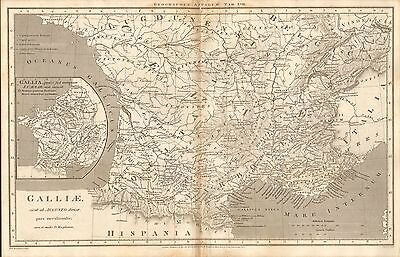 1807 Antique Map-Rees Ancient Geography- Galliae, France South, Macpherson