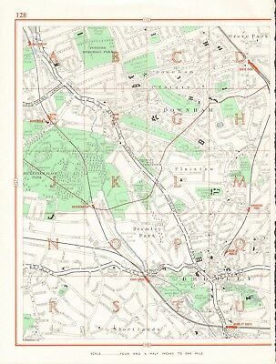 /& Bromley OS 7-16-1933 old map repro Beckenham east