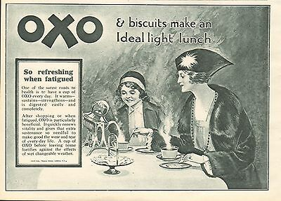 1919 Antique Print- Advert-Oxo-Ideal Light Lunch