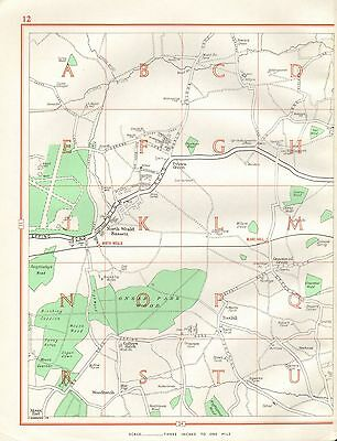 GEOGRAPHERS/' A-Z 1956 map NORTHWOOD PINNER Watford Hatch End Carpenders Park
