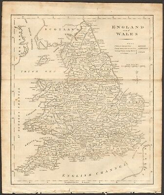 1807 Antique Map- England And Wales