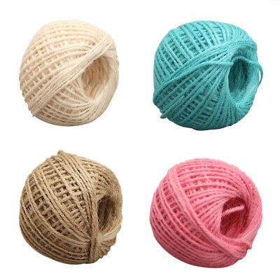 100M/Roll 2mm Natural Jute Rope Hemp Twine Strong Cord Thick Rope String AU