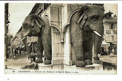 CPA-Carte postale--France -Chambery- Fontaine des Eléphants  VM4290