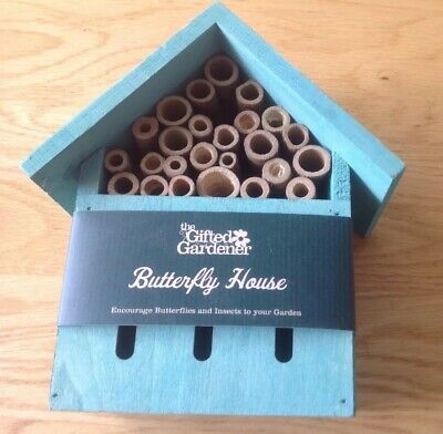 The Gifted Gardener - Wooden Butterfly House - Brand New
