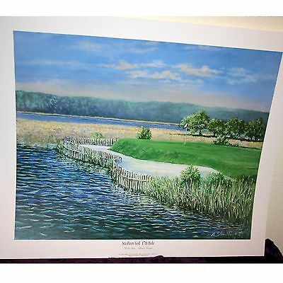 "Bobby Sikes 1993 Limited Edition Print Sea Pines Golf 17th Hole 19.5"" X 25.25"""