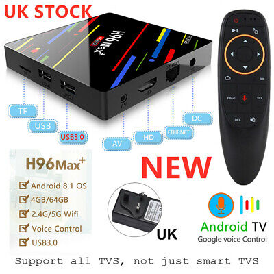 Smart TV Box 4G+64GB 4K HDR10 RK3328 H96 MAX Plus+Voice Control Android 9.0 Ali