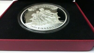 2010 CANADA $50 SILVER 5 OZ. .9999 PROOF 75th ANNIVERSARY OF FIRST BANKNOTE