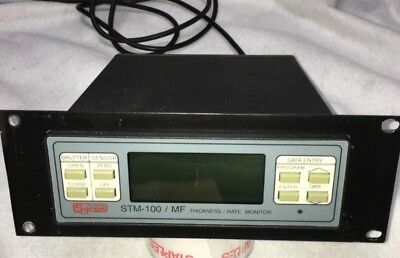 Thin Films Sycon Stm-100 Thickness Rate Monitor PVD, CVD, Sputter