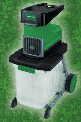 Gardenline 2500W Electric Quiet Garden Shredder Waste Mulcher Chipper 60 Litre
