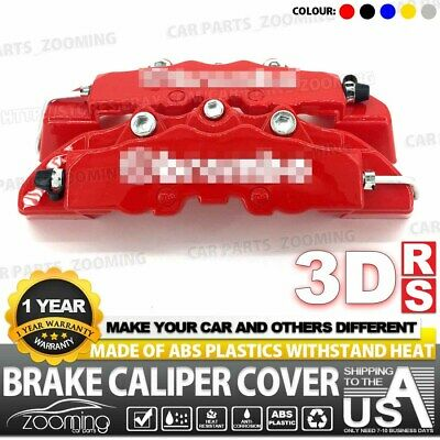 2x 190mm Red 3D Style Brake Caliper Covers Universal Car Disc Front and Rear Kit