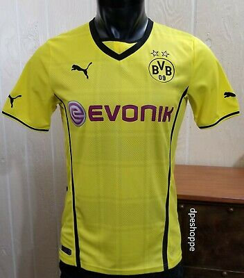 buy popular ffbe0 40773 BVB BORUSSIA DORTMUND Football Soccer Evonik Puma Jersey Shirt Yellow Sz SM