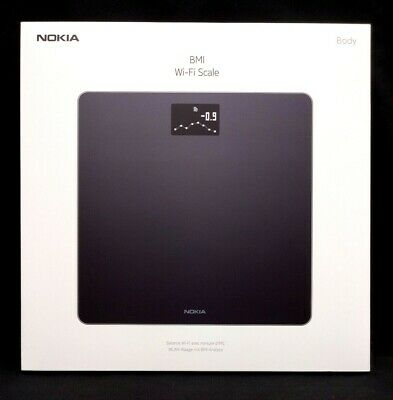 NEW, Nokia Withings Body Weight BMI WiFi Smart Digital Scale, Black