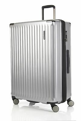 New Flylite Eclipse 80cm Hard Suitcase Luggage Silver Large