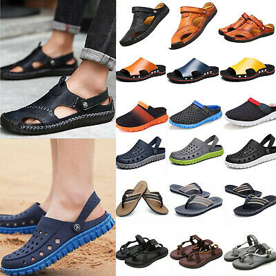 Men Breathable Hole Slippers Sandals Garden Beach Work Strappy Soft Insole Shoes