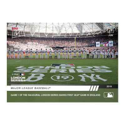 2019 Topps Now #447 Mlb Game 1 Of London Series Yankees Versus Red Sox