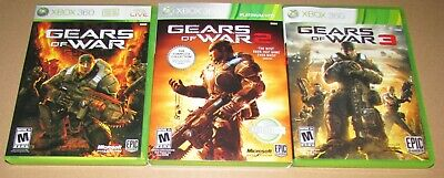 Gears Of War 1, 2 & 3 for Xbox 360 All Complete Fast Shipping!