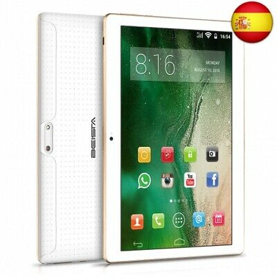 Tablets 10 Pulgadas BEISTA-Android 7.0,WiFi,3G Tablet,HD IPS,Quad Core,  (white)