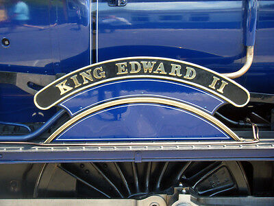 Photo Steam Loco nameplate 6X4  GWR King Edward 11 (on Blue Engine)