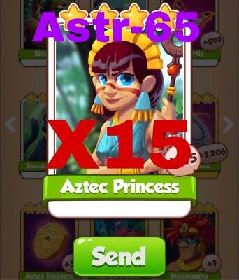 Coin Master Cards Pack Of 10 Aztec Princess Fast Delivery