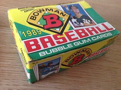 UNOPENED BOX Bowman 1989 Major League Baseball Bubble Gum / Trading Cards 36 Ct